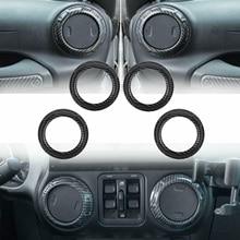 Garnitures intérieure de voiture de rechange en Fiber de carbone pour Jeep Wrangler JK 2011-2017
