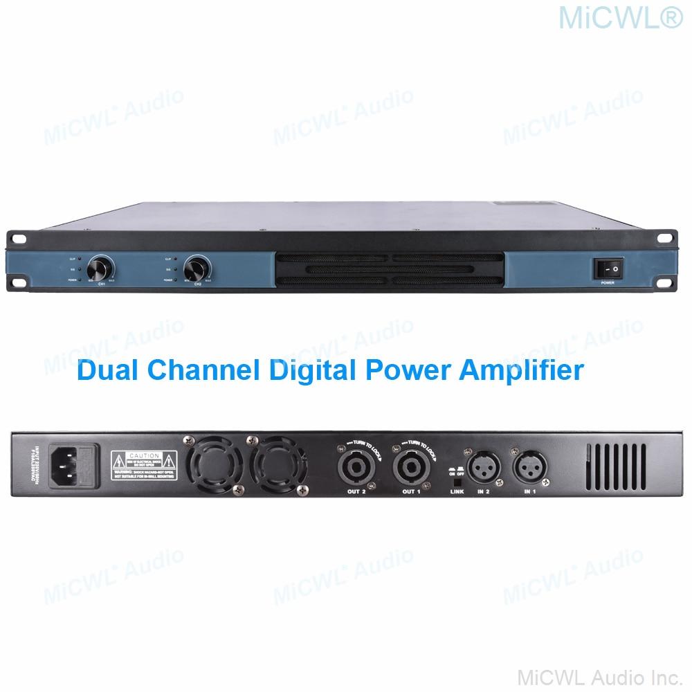 MiCWL الرقمية 1300 واط 2 قناة مكبر كهربائي 8Ω 1300 واط الصوت الصوت الميكروفونات XLR السلطة ديباجة أمبير مع حجم التبديل