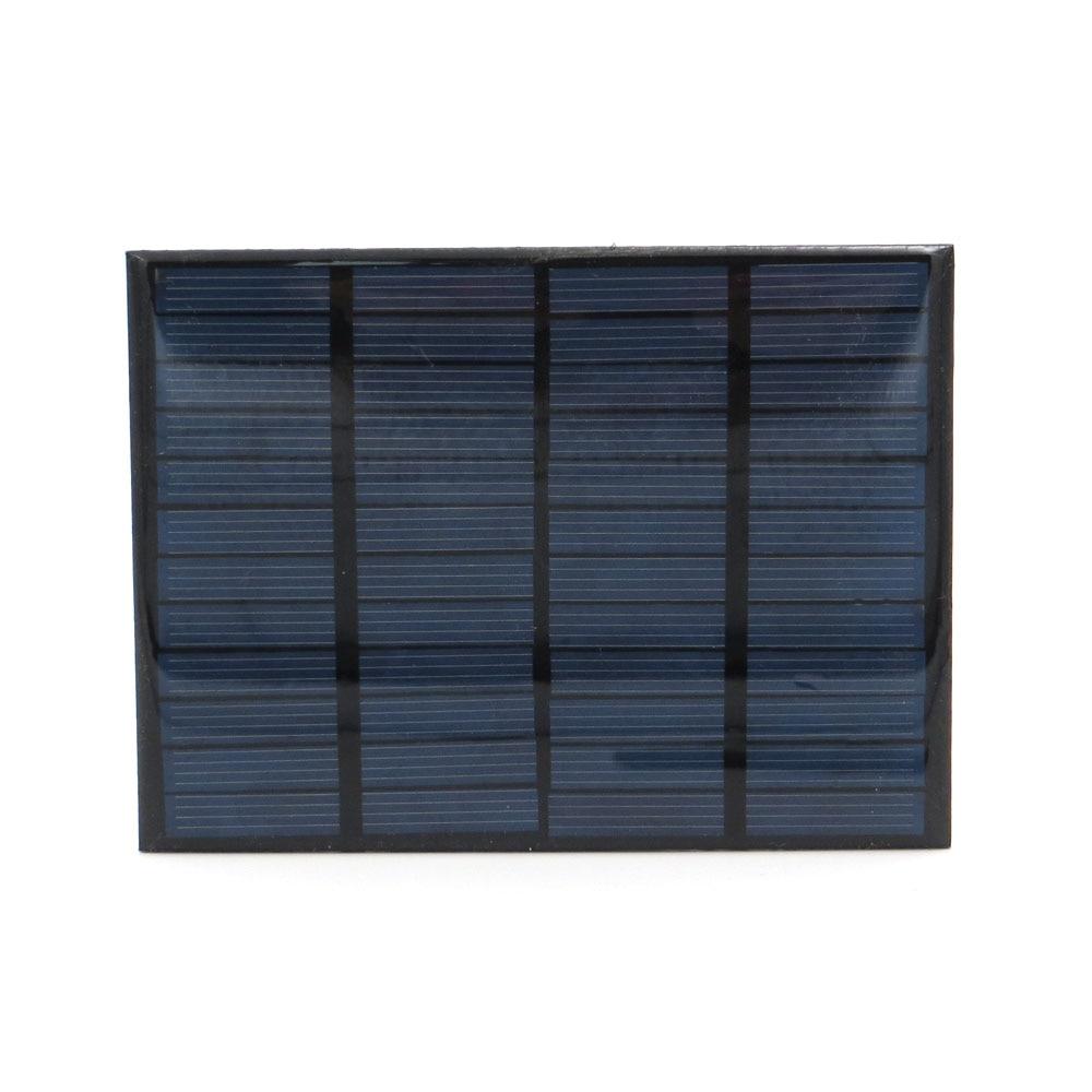 Chargeur de panneau solaire 12V 125mA 1.5W   Mini batterie solaire, chargeur de téléphone Portable, Portable époxy, cellule solaire en silicium polycristallin, bricolage
