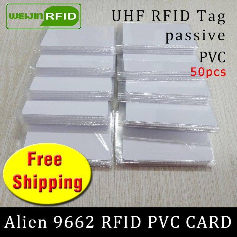 أوف رفيد بطاقة بك بطاقة الغريبة 9662 915mhz 868mhz 860-960MHZ هيغs3 إيبك ISO18000-6C 50 قطعة شحن مجاني البطاقة الذكية السلبي رفيد العلامة