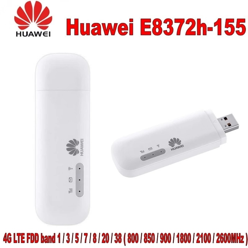 10 Uds HUAWEI Modem Wi-Fi E8372... E8372h-155 mb/s USB 4G LTE compatible...