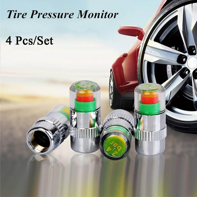 AliExpress - 4/1 Pcs Car Wheels Tire Pressure Sensors Wheel Caps Pressure Monitor Valve Stem Sensor Indicator Outdoor Diagnostic Repair Auto