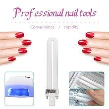 4 pièces verre 9W durcissement UV Gel lampe Gel Nail Art sèche Tube remplacement ongles durcissement sèche ongles manucure outil