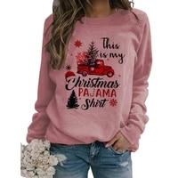 merry christmas printed women sweatshirts casual hoodies long sleeve pullover hoody streetwear shirts outwear outwear party