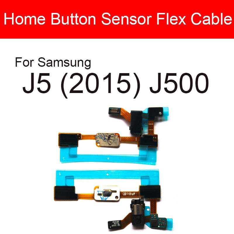 Home Return Button Flex Cable For Samsung Galaxy J5 (2015) J500 Audio Jack Port Flex Ribbon Replacem