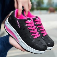 women casual shoes 2021 fashion vulcanize sneakers outdoor ladies breathable chunky jogging shoe anti skid tennis sport trainers