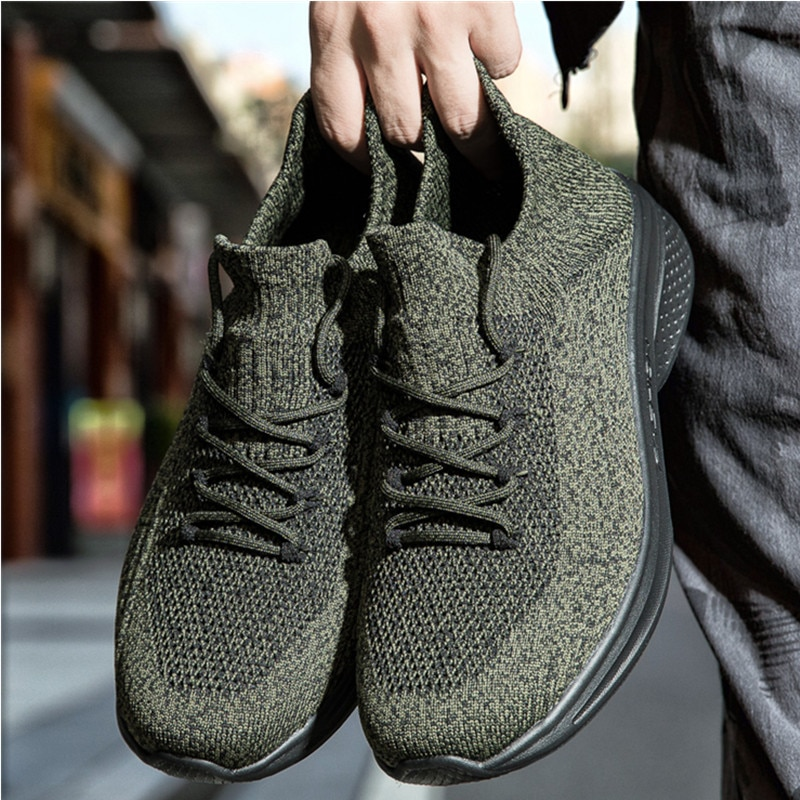 Casual Men's Sneakers Running Shoes Breathable Comfortable Male Fitness Footwear Jogging Sports Shoes Non-slip Rubber Bottom