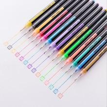 Gel Pen Set Refills Metallic Pastel Neon Glitter Sketch Drawing Color School Office Supply Stationery Marker Kids Gifts Painting