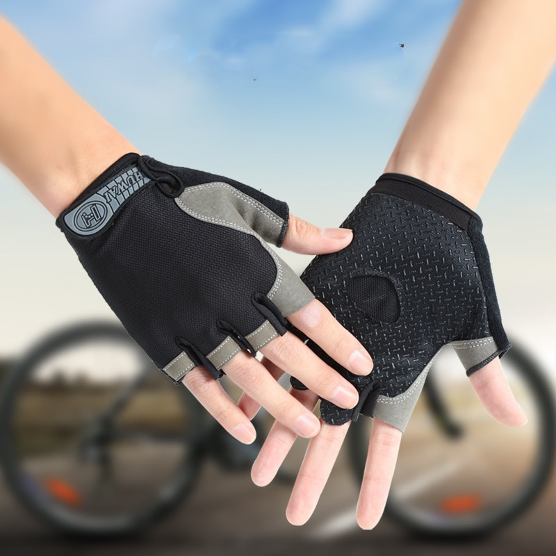 Cycling Fingerless Gloves Summer MTB Road Riding Anti-Slip Breathable Fitness Half Finger Gloves Bike Bicycle Gym Mitten safety inxs ridding gloves mac836 high quality riding half finger gloves solid anti slip breathable comfort safety gloves