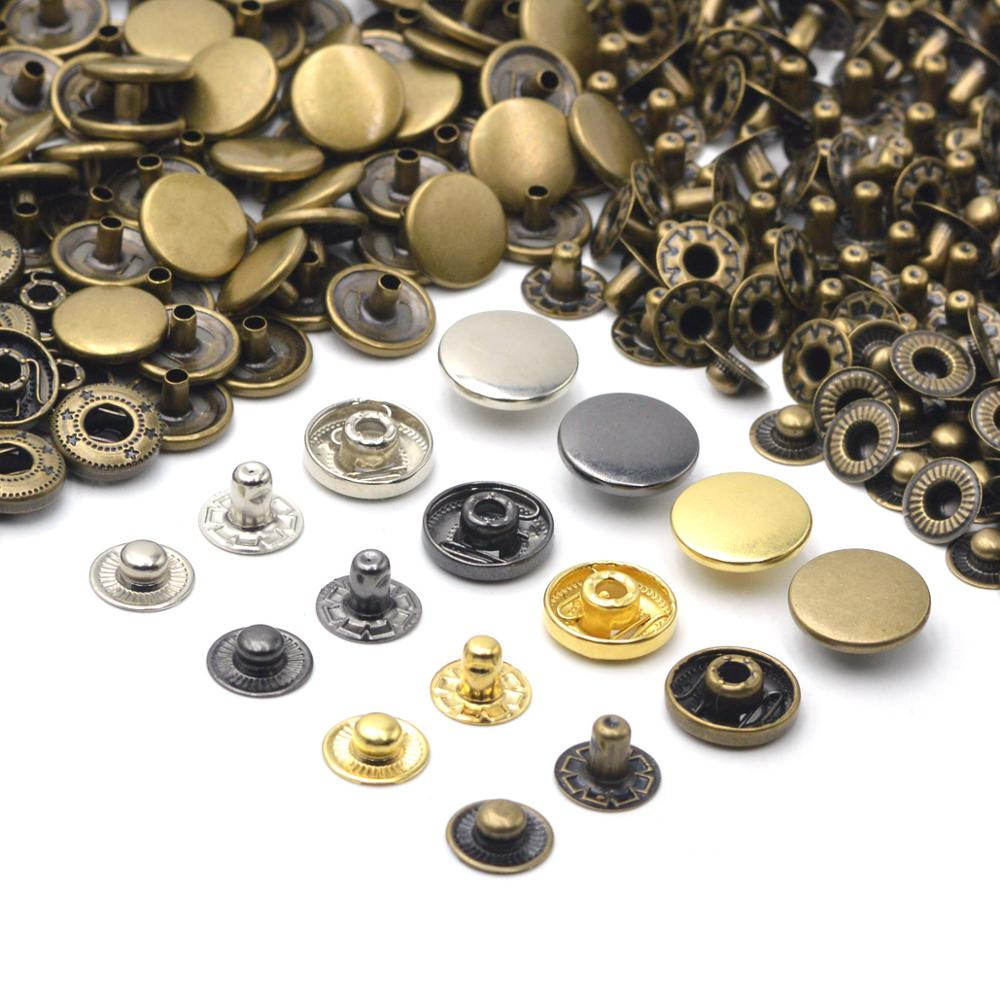 Kalaso, 30 conjuntos de Material de latón de alta calidad, tachuelas de presión para coser, sujetadores de botones a presión, bolsas de cuero para manualidades para ropa, suministros Diy