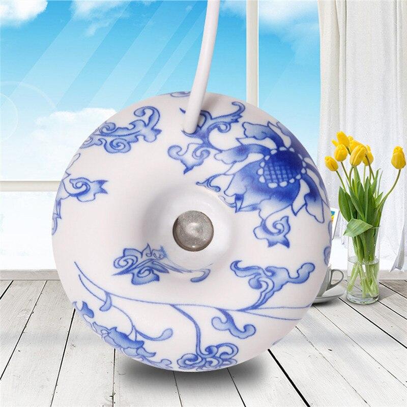 Mini humidificador ultrasónico ELOOLE de porcelana azul y blanca, difusor de aromaterapia, nebulizador para hogar, regalo de oficina