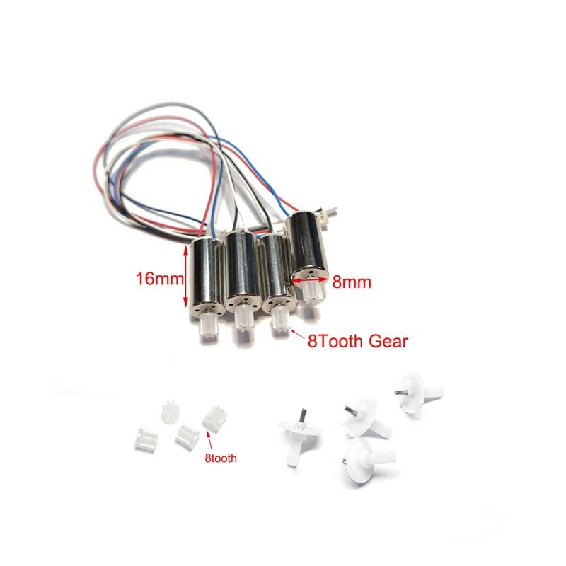 Rc Drone Motor Engines Gear Spare Parts Fit for LS-E525 E88 E525 Pro Mini Drone