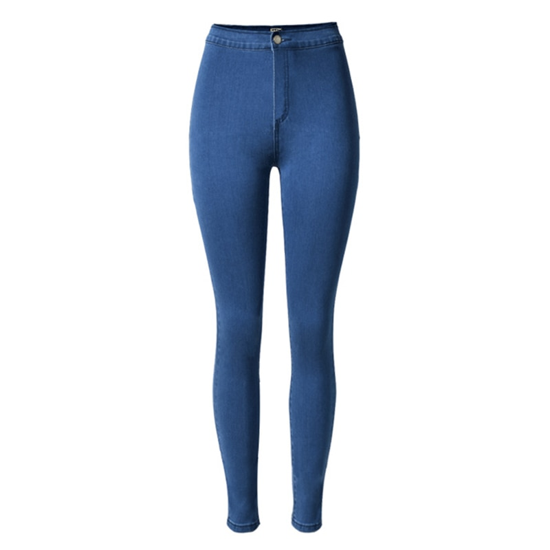 Женские джинсы FAKUNTN с высокой талией, Эластичные Обтягивающие джинсовые брюки в стиле ретро, эластичные узкие брюки-карандаш, женские джинс...