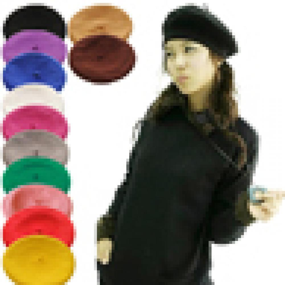 Fashion Women Girl Solid Color  Korean Style Warm Winter Beret French Artist Lady Retro Beanie Hat S