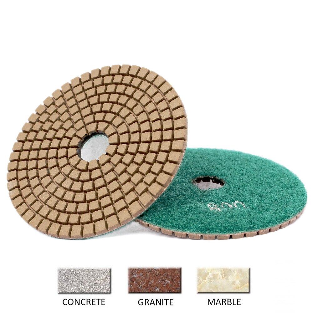 4 Inch 100mm Diamond Polishing Pad Wet Use 1 Piece Polishing Wheel For Stone Concrete Granite Tools Grinding Disc 30#-3000# grit недорого