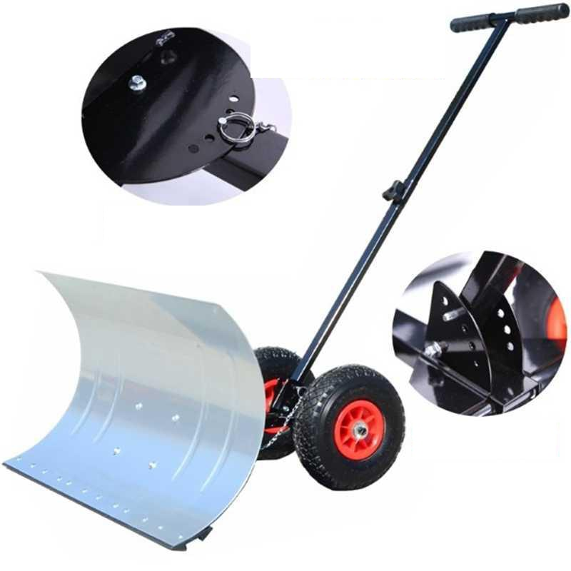 74*42cm Snow removal shovel defrosting cart cleaning push snow mover enlarge