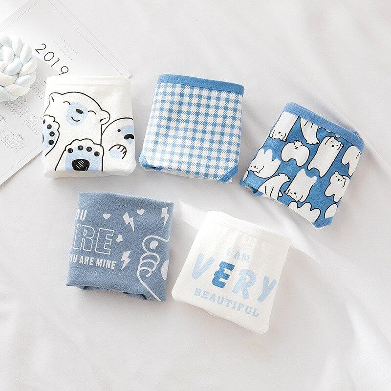 6 Teile/los Frauen Höschen Weibliche Baumwolle Unterwäsche Blauen Höschen Mädchen Atmungsaktive Panda Frauen Nette Dessous Vertrauten