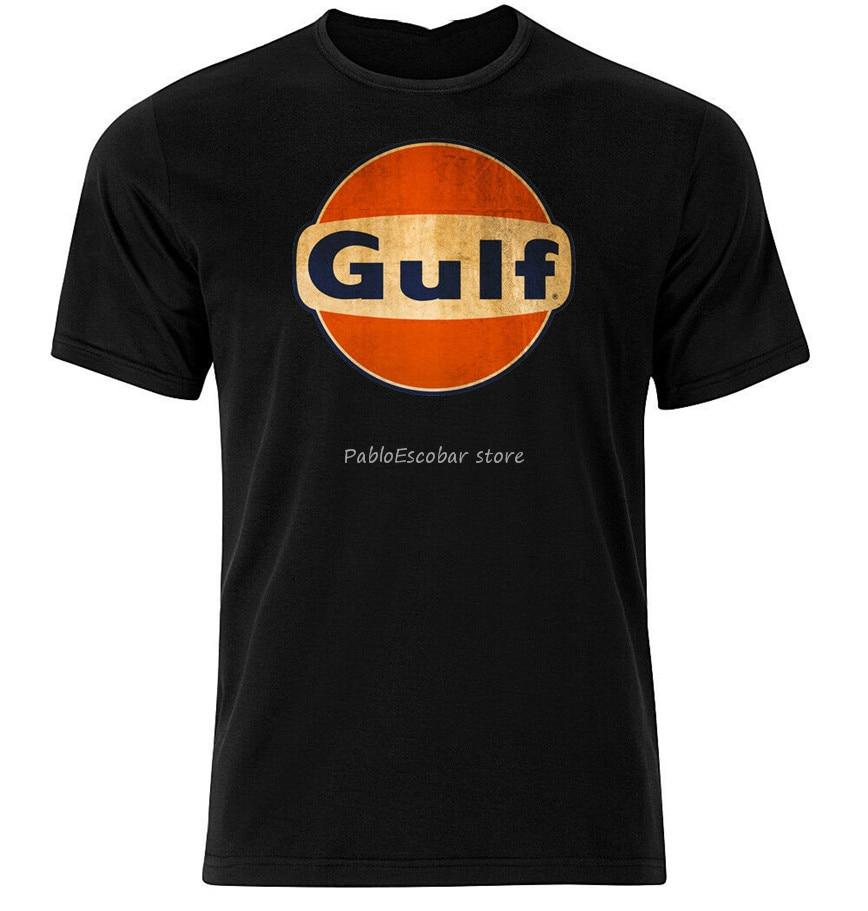 Gulf ii-gráfico de algodão t camisa de manga curta e longa por atacado camiseta masculina marca tshirt verão mais tamanho t-camisa