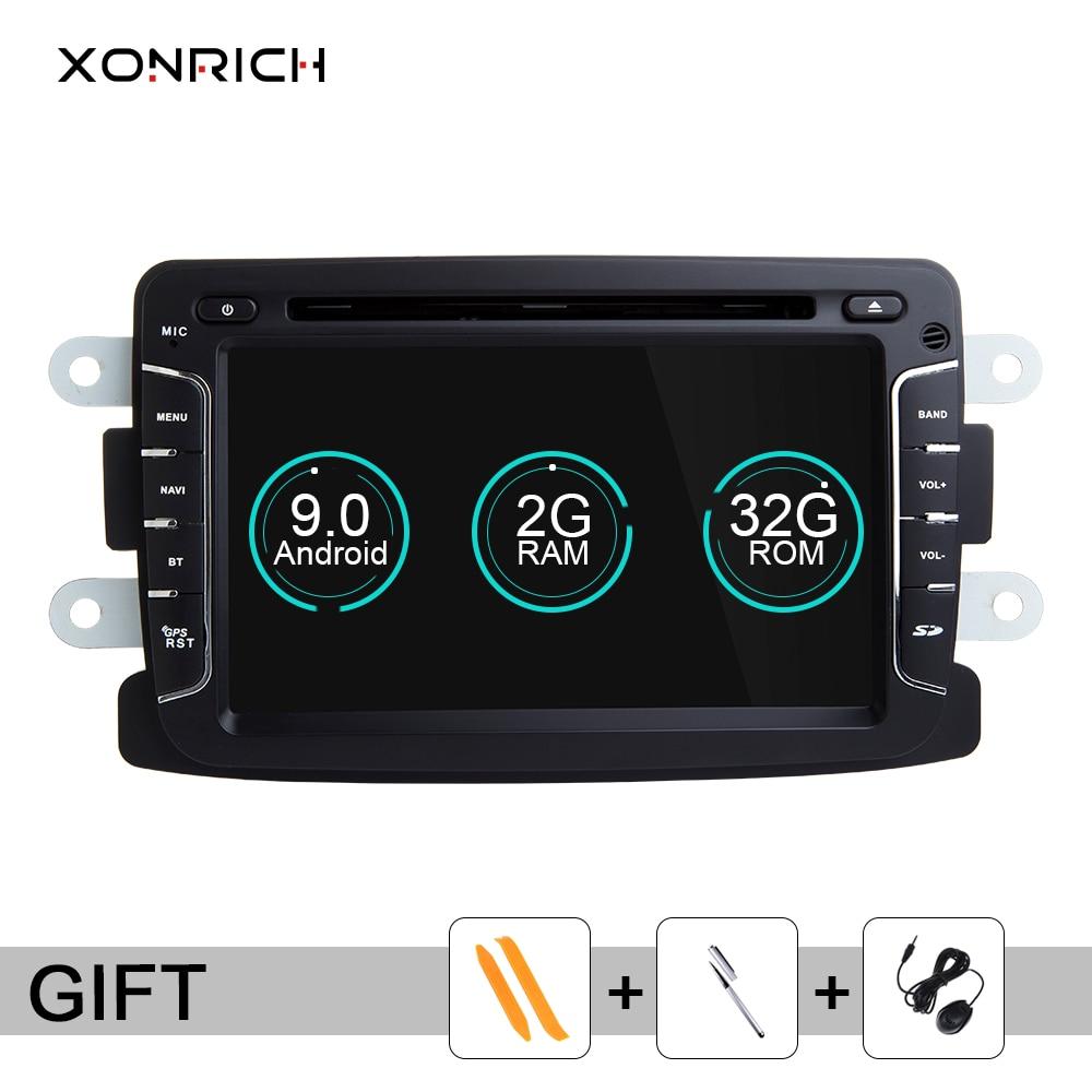 Android 9,0 coche DVD para Dacia Lodgy Logan Duster Renault Sandero Captur/Lada/rayos X 1 din radio gps navegación reproductor multimedia
