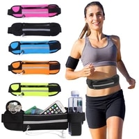waterproof running waist bag canvas sports jogging portable outdoor phone holder belt bag women men fitness sport accessories