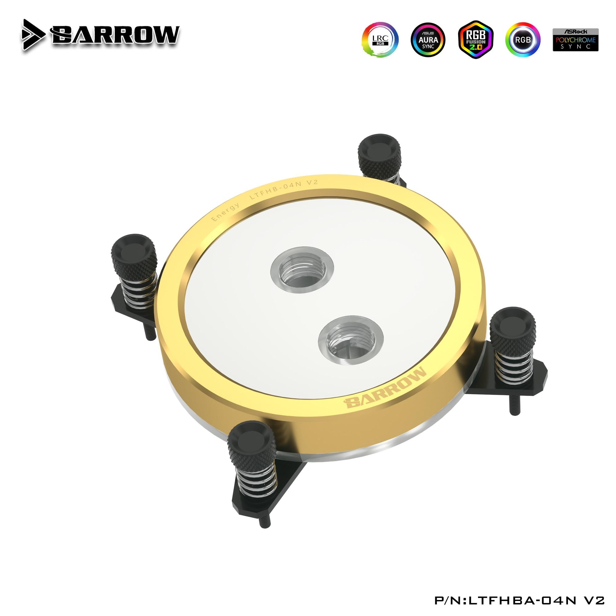 Barrow Gold CPU Water Block for INTEL LGA1150 1151 1155 1156 1200/ X99 2011 / AMD AM3 AM4/ radiator CPU water cooling LTFHB-04N
