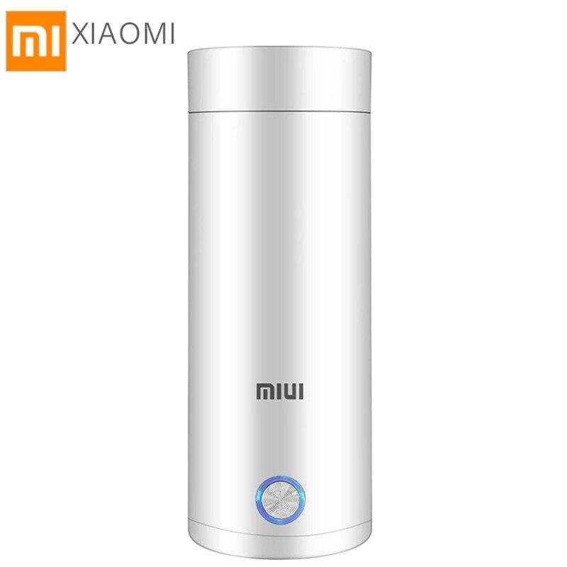 Портативный электрический чайник XIAOMI Mijia MIUI, Термокружка, контроль температуры, для кофе, путешествий | Бытовая техника | АлиЭкспресс