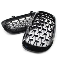 new arrival diamond style car front grille racing front sport grill kidney grille for bmw x5 f15 2014 2016 car accessories
