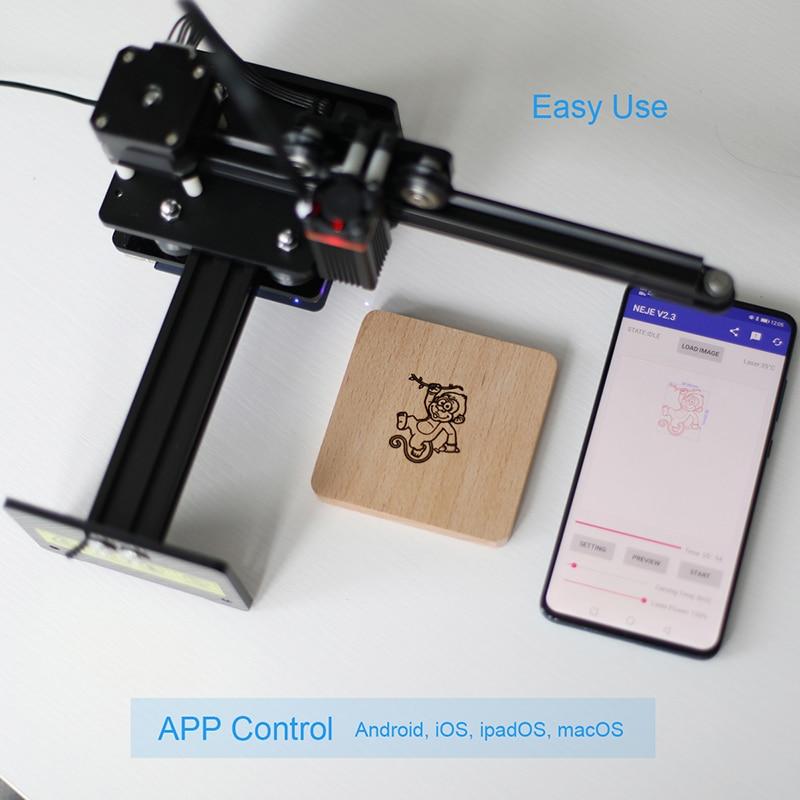 Mini Desktop Laser Engraver Stainless Steel Laser Engraving Machine For DIY Wood Router Laser Marking Carving Cutting 3W 5W 12W enlarge