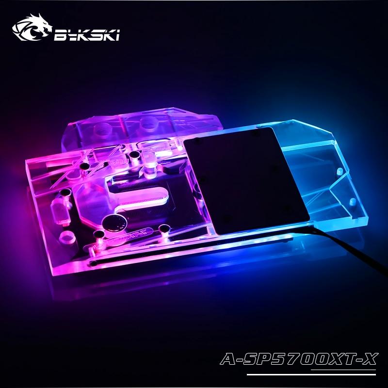 Bloque de agua Bykski uso para zafiro RX 5700 XT Pulse MSI RX5700XT MECH/EVOKE/AMD GPU tarjeta cubierta completa Coppe