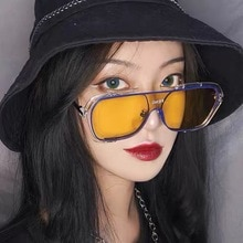 Sunglasses Square Women Men Sun Glasses Female Eyewear Eyeglasses PC Frame Clear Lens UV400 Shade Fa