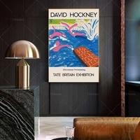 david hockney afternoon swimming poster print modern art print hockney art gift idea wall art poster print canvas painting