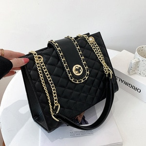 Exquisite Chain PU Leather Shoulder Bags For Women Trending Brand Large Capacity Ladies Crossbody Bags Charming Shopping Purses