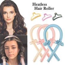 Heatless Curling Rod Headband No Heat Hair Curlers Ribbon Hair Rollers Sleeping Soft Curl Bar Wave F
