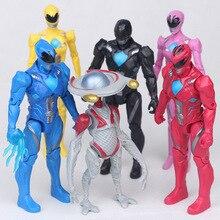 6 unids/lote poderoso Morphin Power Rangers Mecha Five Beast figuras de acción Super batalla Neuro Mystic Force bloques de construcción de juguete