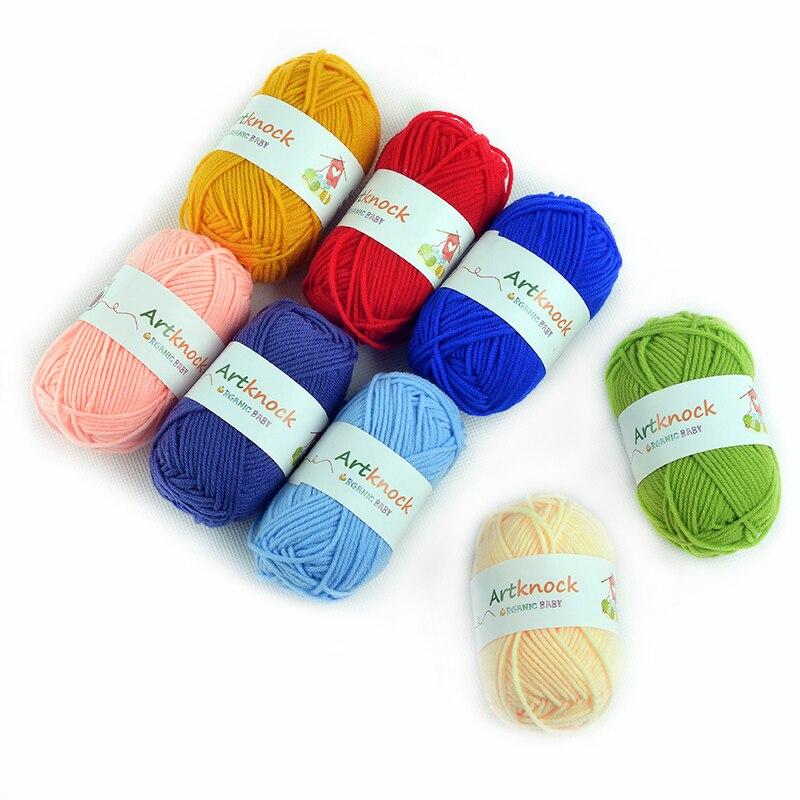 Fil à tricoter à la main en coton   Fil de coton biologique pour tricot, chandail, chaussettes, bon marché, vente en gros, 60 pièces