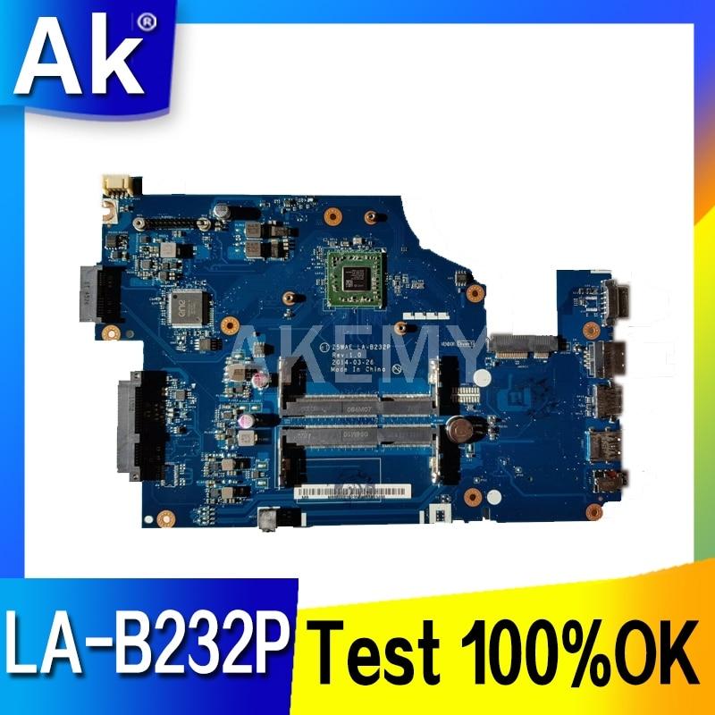Akemy Z5WAE LA-B232P اللوحة الرئيسية لشركة أيسر أسباير E5-521 اللوحة المحمول وحدة المعالجة المركزية على متن DDR3 NBMLF11004 ملحوظة. MLF11.004