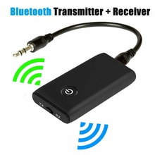 2 in 1 Wireless Bluetooth 5.0 Transmitter Receiver Chargable for TV PC Car Speaker 3.5mm AUX Hifi Mu