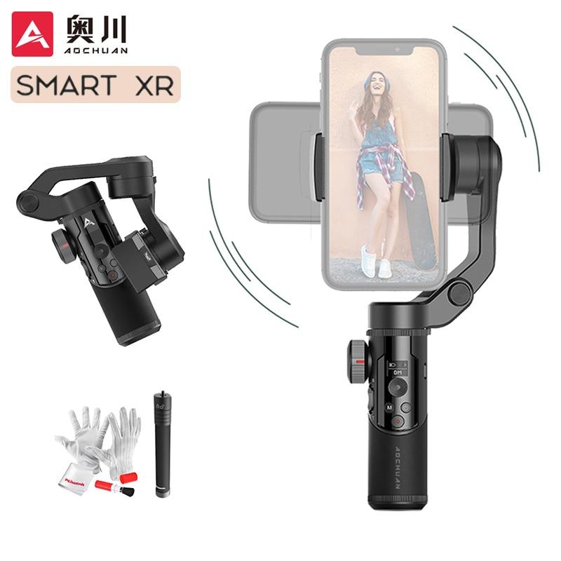 AOCHUAN SMART XR 3-Axis Handheld Gimbal Phone Stabilizer Selfie Stick for iPhone 12 11 Samsung Huawei Xiaomi vs Snoppa/Isteady X