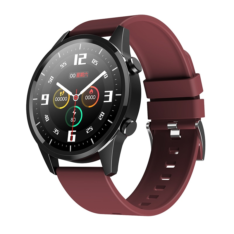 1.28 inch Full touch smart Bracelet men's watches waterproof BT Call With microphone music women Smartwatch for apple honor