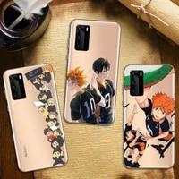 haikyuu hinata attacks anime phone case transparent for huawei honor nova c x 7 8 3 4 9 65g se v t play pro lite