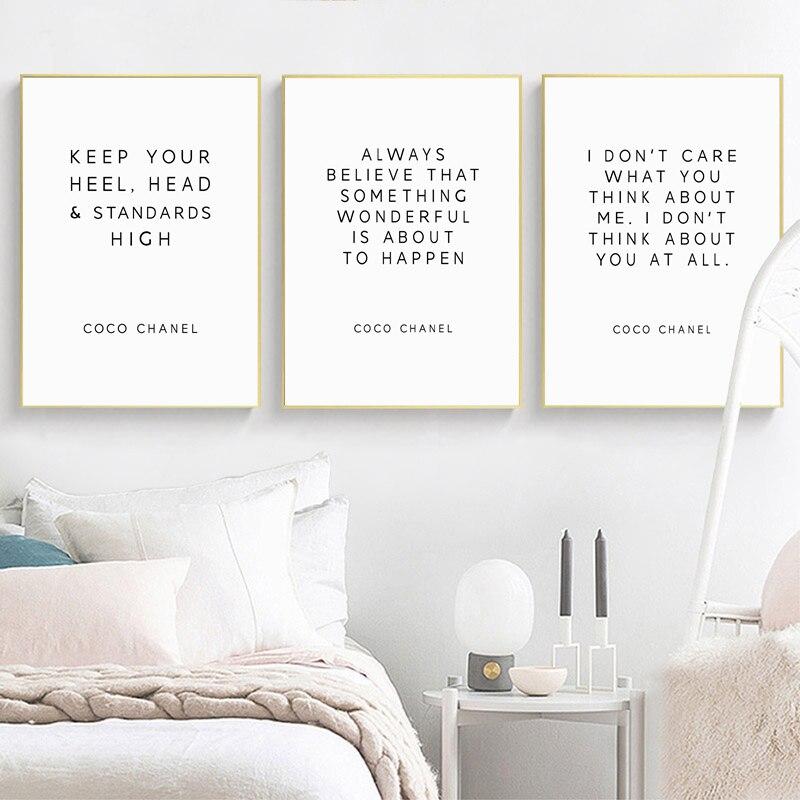 Мотивационные постеры с мотивационными надписями Коко, модное украшение на холсте с мотивационными надписями, домашний декор