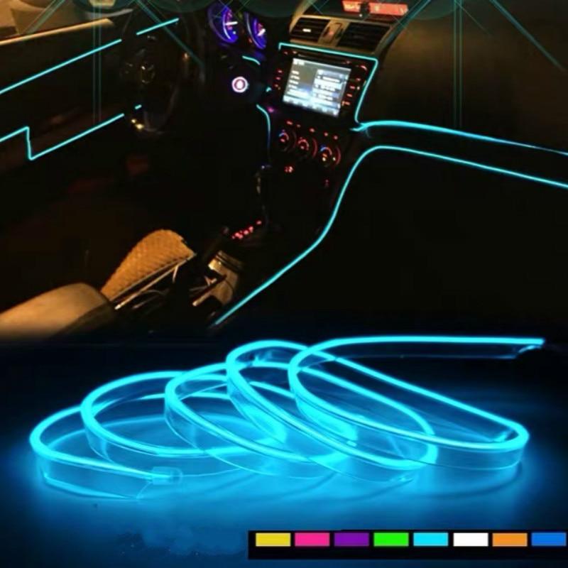 JURUS-Luz Led de 3 metros para Interior de coche, lámpara de tubo...