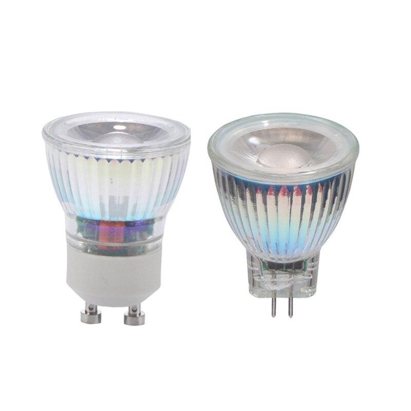 10pcs lot mr16 led spot light glass body ac dc12v 5w dimmable cob led spotlight bulb warm white cold white GU10 MR11 COB LED Bulb 7W 110V 220V Dimmable LED Lamp AC/DC 12V 35mm Led Spotlight Warm/Nature/Cold White GU 10 COB LED light