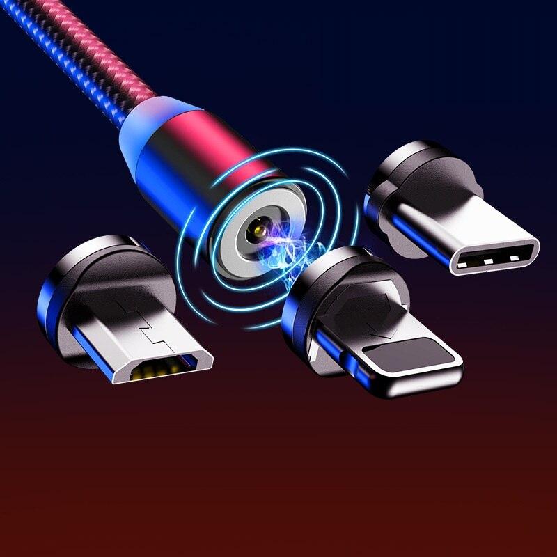Cable de carga magnética de 1M, Cable Micro USB para iPhone 11...