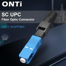 ONTi 400 adet gömülü SC UPC Fiber optik hızlı bağlantı FTTH tek modlu Fiber optik SC hızlı bağlantı SC adaptörü alan montajı