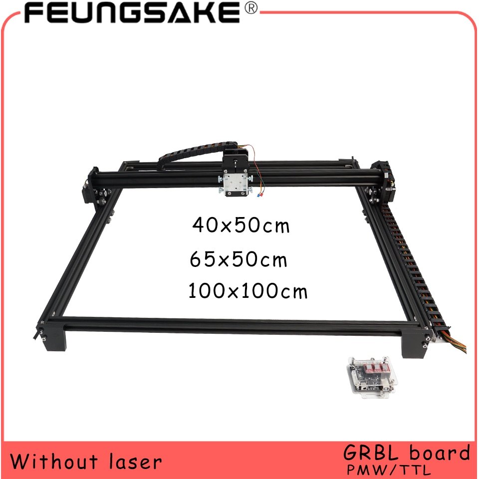 100x100 laser machine cadre 6550 bricolage Mini Laser gravure Machine pour connecter 15w laser TTL 5500mw 2500mw PMW,4050 laser sculpture