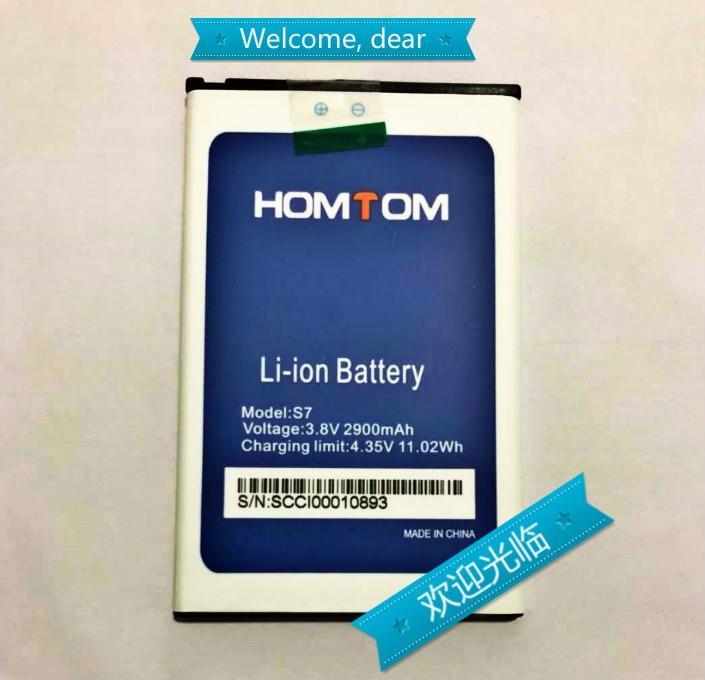 100% Original S7 Battery 2900mAh Replacement HOMTOM S7 Mobile Phone Battery