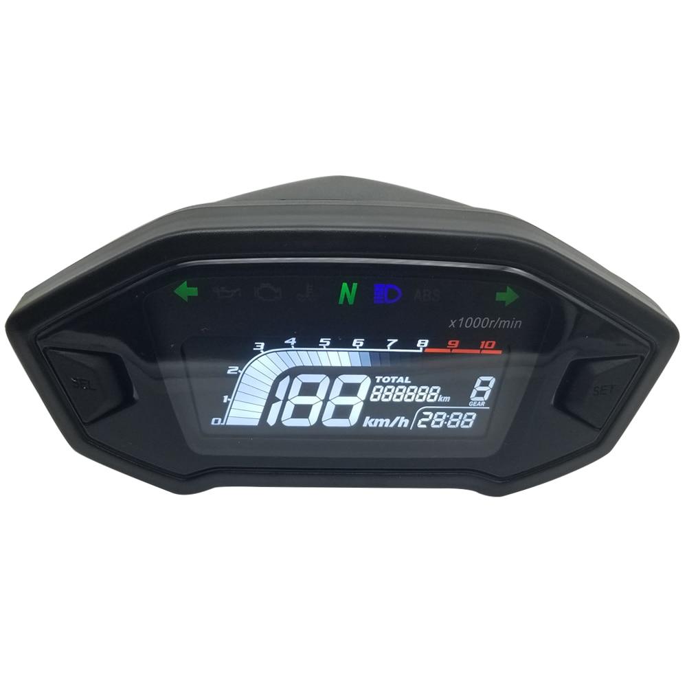 2020 novo estilo de VA tela clara no sol LCD velocímetro da motocicleta sete cores backlight backlight opcional digital odemeter