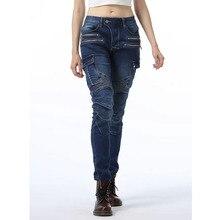Nuevos pantalones de Moto para mujer, pantalones vaqueros de Moto, pantalones de Motocross, diseño con cremallera y equipo de protección para mujer
