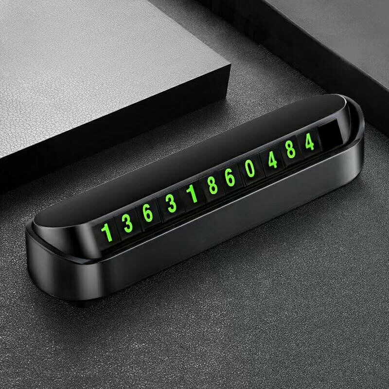 Car Styling Temporary Parking Card Phone Number Card Plate Telephone Number Car Park Stop In Car-styling Automobile Accessories